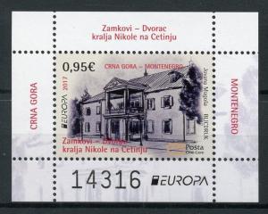 Montenegro 2017 MNH Castles Europa 1v M/S Castle Architecture Stamps