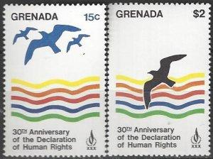 Grenada  915-6  MNH  UN Human Rights  30th Anniversary