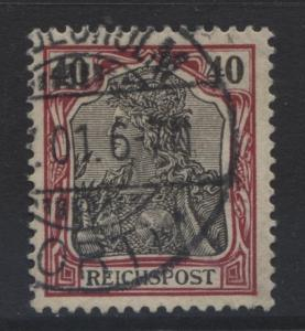 GERMANY. -Scott 59 - Definitives -1900 -Used - Lake & Blk -Single 40pf Stamp1