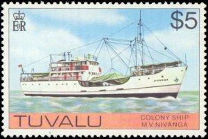 Tuvalu #23-37, Complete Set(15), 1976, Never Hinged