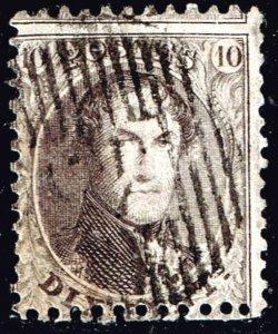 Belgium Stamp 1863 -1865 King Leopold I - Perforated 10C BROWN MISPERF ERROR