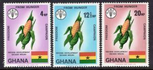 Ghana 418-420 MNH VF