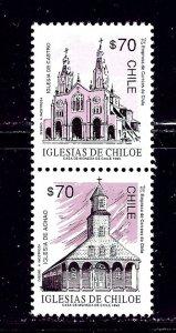 Chile 1036-37 MH 1993 Pair    (ap2261)