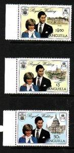 Anguilla-Sc#444-6-unused NH set-id3-Royal Wedding-Princess Diana-1981-