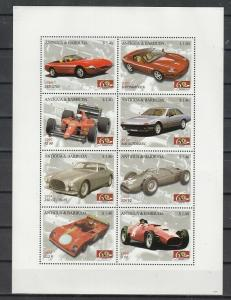 Antigua, Scott cat. 2970 A-H. Ferrari Automobiles sheet. ^