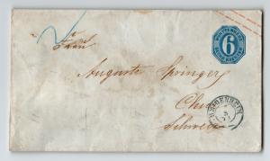 Wurttenburg 6k Stationery / 1870 CDS - Z13270