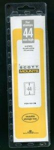 CLEAR Scott / Prinz Pre-Cut 44 High Strips 215mm Long Stamp Mounts 215x44 CLEAR