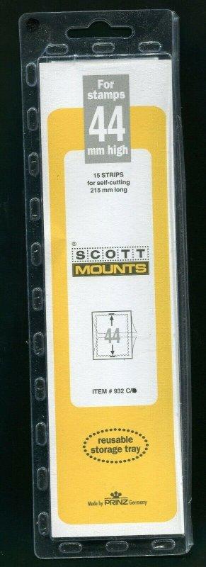 Scott / Prinz Pre-Cut 44 High Strips 215mm Long Stamp Mounts 215x44 Clear