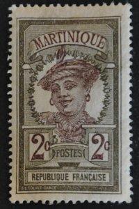 DYNAMITE Stamps: Martinique Scott #63 – MINT hr