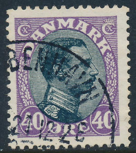 Denmark Scott 116 (AFA 105), 40ø Christian X , F-VF used