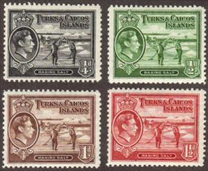 Turks & Caicos #78-81 MH