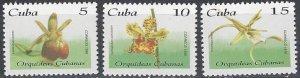 Cuba 3681a-c   MNH Orchids  1995