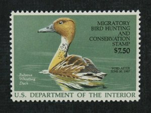 RW53-1986 Federal Duck Stamp VFOGNH No Faults- EBAY LOW-OFFER  EX