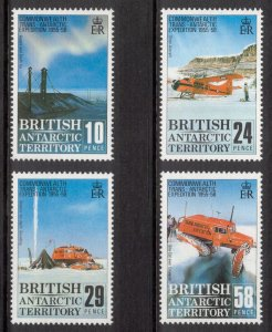 BRITISH ANTARCTIC 1988 Trans-Antarctic Expedition; Scott 145-48,  SG 163-66; MNH