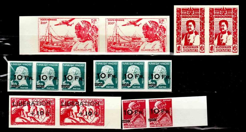 Stamp essay selection of FRENCH Colonies, as shown