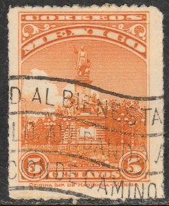 MEXICO 637, 5cents COLUMBUS MONUMENT Unwmk USED. VF.  (387)