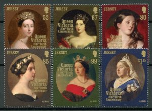 Jersey 2019 MNH Queen Victoria 200th Birthday 6v Set Art  Royalty Stamps