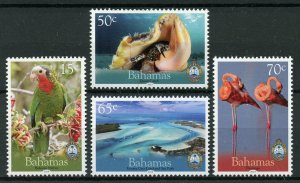 Bahamas 2019 MNH National Trust Parrots Flamingos Seashells 4v Set Birds Stamps