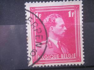 BELGIUM, 1936, used 1f, King Leopold III, Scott 284