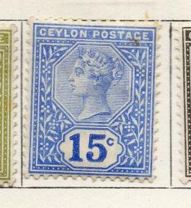 Ceylon 1899-1900 Early Issue Fine Mint Hinged 15c. 300064