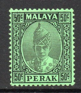 Malaya Perak 1938 KGVI 50c black/emerald SG 118 mint.