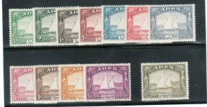 Aden #1 - #12 Very Fine Mint Lightly Hinged Complete Set