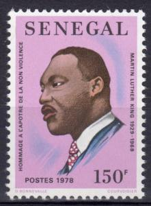 Senegal 1978 Sc#488  Martin Luther King Nobel Prize Winner (1) MNH