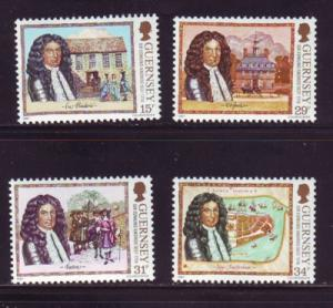Guernsey Sc 352-5 1987 Sir Edmund Andros stamp set NH