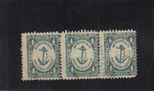 Match Tax Stamp, Sc #RO33d, Used, Strip/3 (37887)