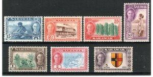 Sarawak 1950 15c to $5 MH