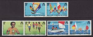British Virgin Islands 471-476a Olympics MNH VF