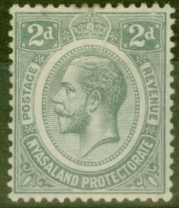 Nyasaland 1913 2d Slate SG88 Fine Very Lightly Mtd Mint