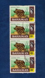 BAHAMAS Sc 400 Used Horiz Strip of Four Very Fine