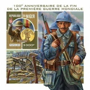 HERRICKSTAMP NEW ISSUES NIGER Anniv. End of WW II S/S