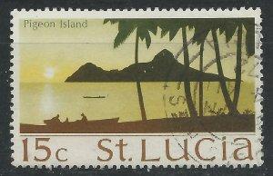 St Lucia 1970 - 15c Pigeon Island - SG283 used