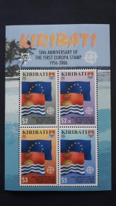 50th anniversary of EUROPA stamps - Kiribati - 1x Bl perforated ** MNH