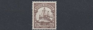GERMAN EAST AFRICA  1905  S G 26   2 1/2H  BROWN  MNH