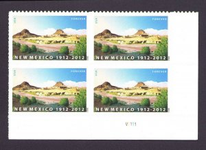New Mexico Statehood Forever Sc 4591 Plate Block MNH