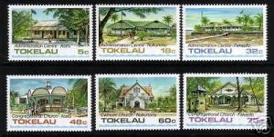 TOKELAU 1985 BUILDINGS SET 6 MNH