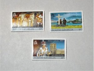 South Georgia - 48-50, MNH Set. Elizabeth II Anniv. of Reign. SCV - $1.55