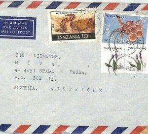 Tanzania Air Mail Cover *Musoma* MIVA MISSIONARY Austria 1997 {samwells} CA388