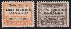 Ecuador - 1951 - SC C223-24 - H/Used