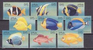 Maldives, Scott cat. 2341 a-l. Various Tropical Fish issue. ^