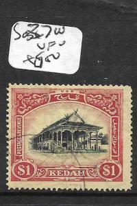 MALAYA KEDAH (P3012B) $1.00 HOUSE SG 37W  VFU