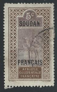 French Sudan #24 5c Camel & Rider
