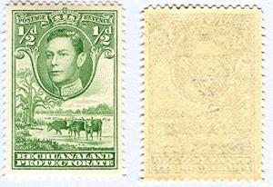Bechuanaland Protectorate Scott #124 Single Stamp, Mint, George VI, Cattle an...