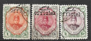 COLLECTION LOT OF #538 IRAN 3 STAMPS 1911 CV=$33