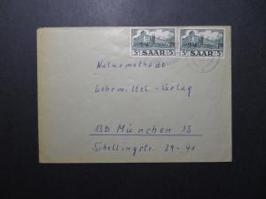 Germany SAAR 1957 Cover to Munich - Z12192