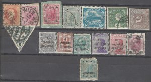 COLLECTION LOT # 2459 AUSTRIA  15 STAMPS 1867+ CLEARANCE CV+$25