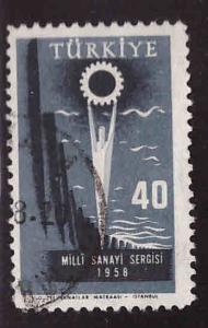 TURKEY Scott 1426 Used 1958 Industry stamp